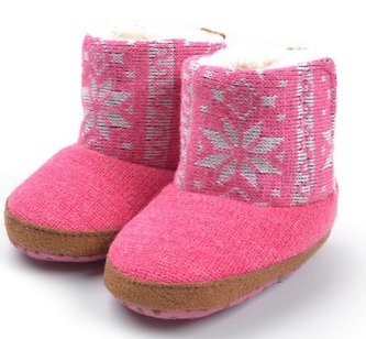 Baby Girl Winter Warm Bootie Toddler Shoes Christmas Shoes Pink 0-2years Old
