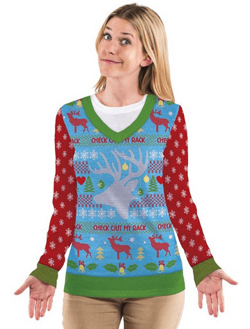 Check Out My Rack Ugly Sweater T-shirt