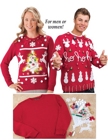 Collections Etc Diy Ugly Christmas Sweater Kit