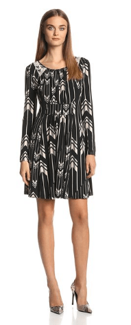 Jessica Simpson Women's Long-Sleeve Pleated Panel Dress