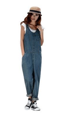 Dark Blue Denim Overalls