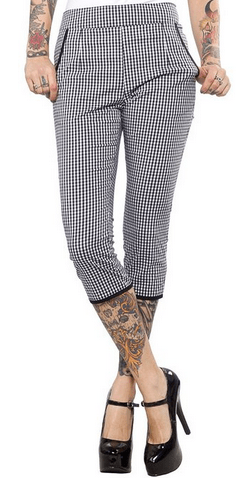 Sourpuss Gingham Capri Pants