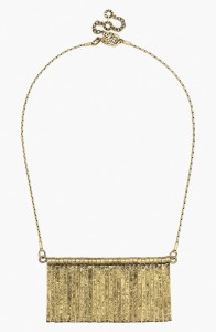 BaubleBar's fringe bib necklace