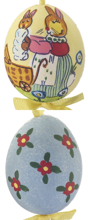 Bunny Holding Baby Easter Egg from Ornament Shop