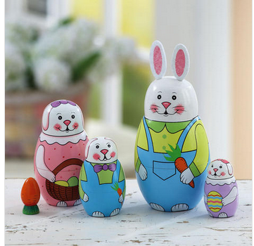 Bunny Nesting Set with Carrot