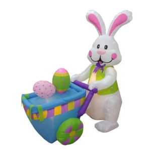 E3 -BZB-Goods-Easter-Inflatable-Rabbit-Pushing-Cart-with-Eggs-Decoration-300023-300003