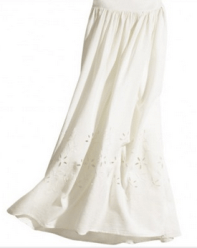 Hollow Out Cottong Long Skirt