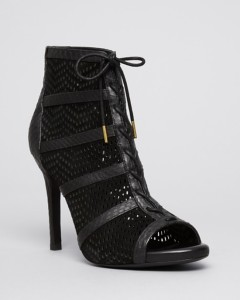 Joie Open Toe Platform Lace Up Perforated Booties - Shari High Heel