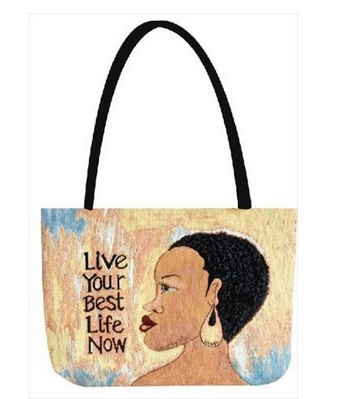 Live Your Best Rectangle Tote Bag