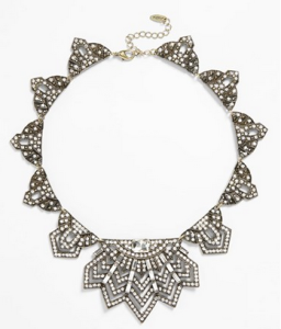 Natasha Couture Art Deco Crystal Bib Necklace