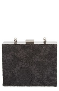 Natasha Couture Lacy Box Clutch