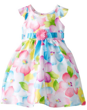 Rare Editions Baby Baby-Girls Infant Floral Shantung Dress