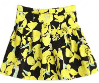 Retro Floral Pattern Pleated Mini Skirt