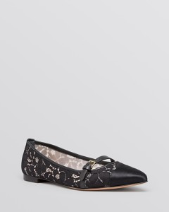 Tory Burch Pointed Toe Flats - Sutton Lace