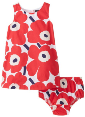 marimekko Baby Girls Infant Tomusokeri Floral Dress Set