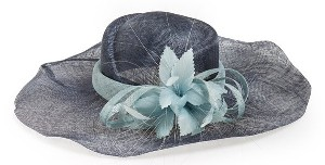 August Hat Ruffle Brim Derby Hat