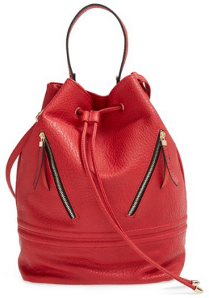 Cesca 'Brianni' Zip Bucket Bag