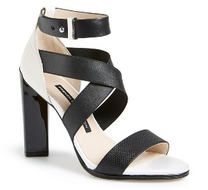 French Connection 'Melody' Elastic & Leather Sandal