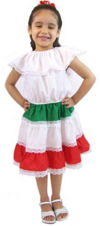 Leos Mexican Imports Girls Mexican Dress