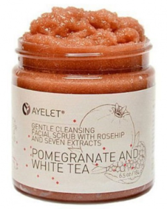 Pomengranate and White Tea Facial Cleansing Scrub