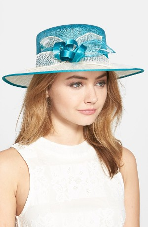 Sinamay Hat with Feather
