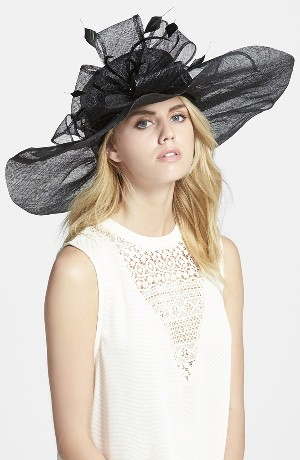 Sinamay Hat with Flower