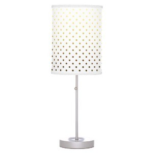 White Gold Polka Dot Table Lamp