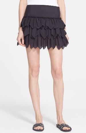 The Great 'The Tutu' Tiered Silk Skirt