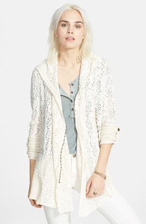 Free People 'Doiley' Zip Front Cardigan