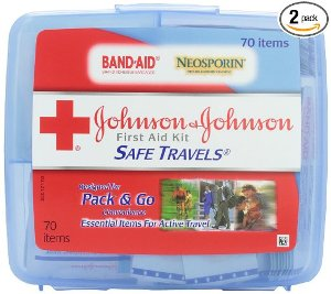 Johnson & Johnson Red Cross Save Travels First Aid Kit