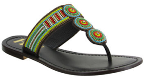 MIA Borneo Beaded Leather Thong Sandals
