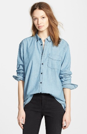 Madewell Chambray Boyfriend Shirt