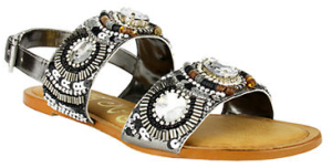 NAUGHTY MONKEY Bubble Pop Glitz Faux Leather Sandals