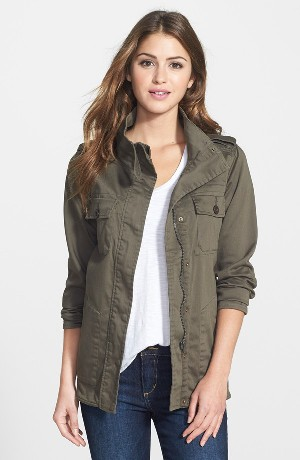 PRESS Two-Pocket Stretch Cotton Military Jacket