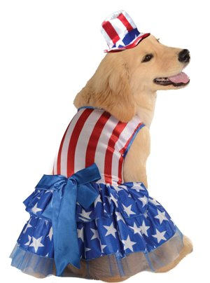 Rubies Costume 4th of July Collection Pet Costume, Patriotic Pooch Girl
