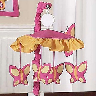Butterfly Pink and Orange Mobile
