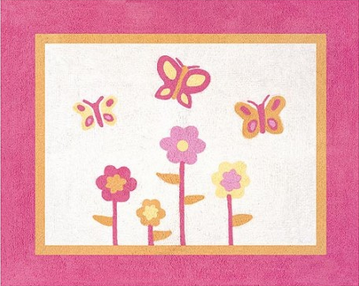 Butterfly Pink and Orange Rug