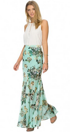 Floral Fishtail Skirt