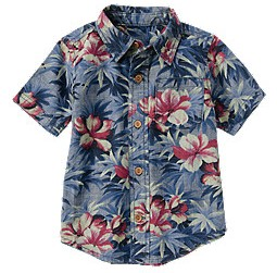 Island Flower Chambray Shirt