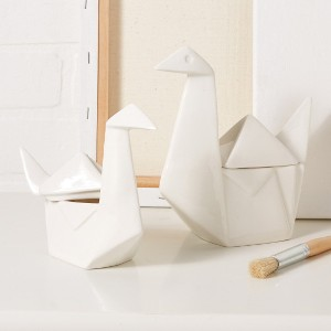 SET OF 2 SWAN BOXES DESIGN BY TOZAI HOME