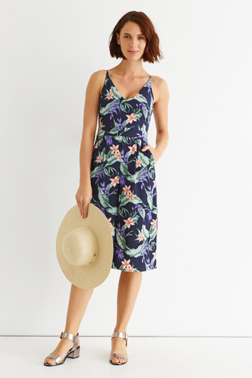 TROPICAL PALM CULOTTE JUMPSUIT