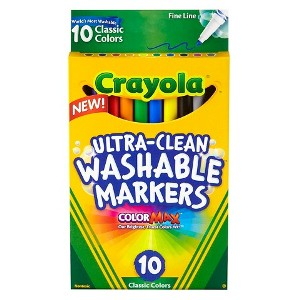 Crayola Ultra-Clean 10-ct. Classic Colors Washable Fine Line Markers
