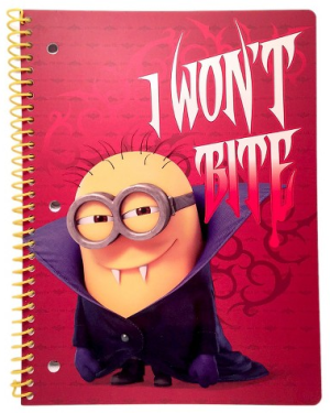Decorative fashion Notebook Despicable Me Multi-colored Despicable Me