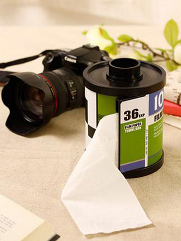 Film Canister Creative Tissue Box Red