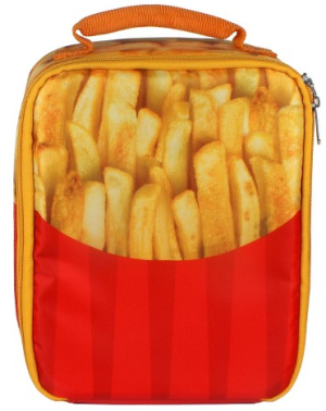 French Fries Snack Attack Lunch Bag Red
