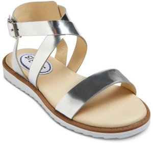 Girls' #ICING Gladiator Sandals - Silver
