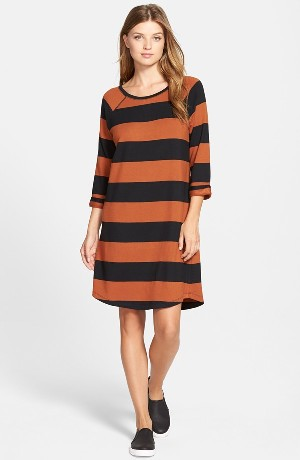 Caslon® Stripe Knit Shift Dress