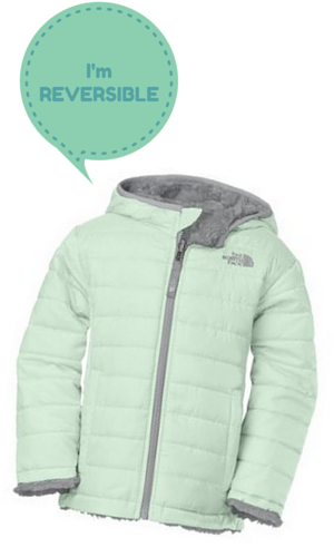 9.The North Face Little Girls' Toddler Reversible Mossbud Swirl Jacket