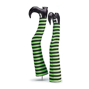 Lime Green Witch Legs Yard Stakes