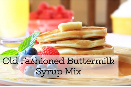 Old Fashioned Buttermilk Syrup Mix.
